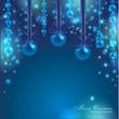 eleganter weihnachtlicher Hintergrund in blau