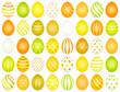 40 Easter Eggs Pattern Yellow/Orange/Green