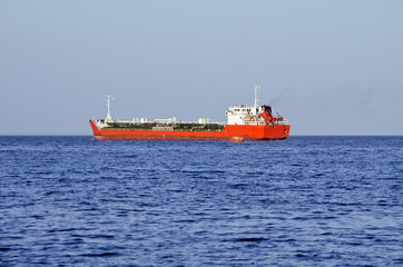 Petrochemical tanker at anchorage