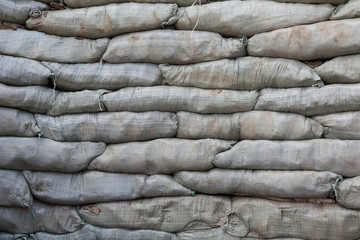 Sandbags for flood protection