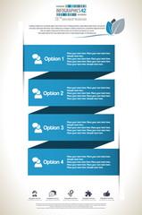 Minimal infographic template