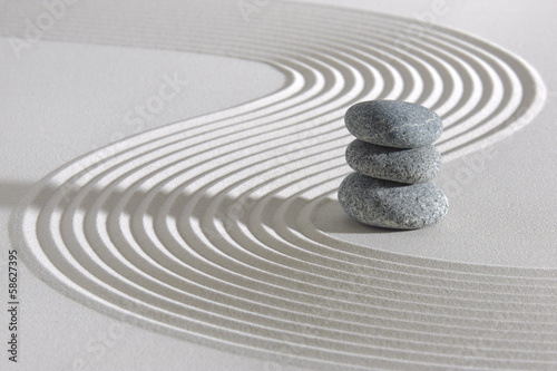 Foto op Canvas Zen Japanese ZEN garden with stacked stones