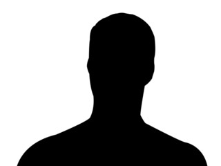 silhouette d'homme - haut du corps