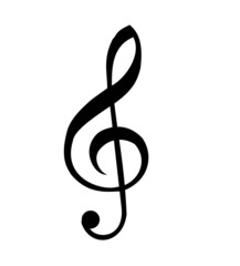Clef vector isolated on a white background