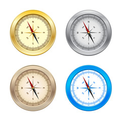 Set of Compass isolated on white background