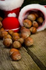 weihnachtliche nussdekoration