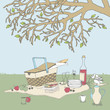 Picnic under a Tree - 58629331