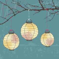 Three Paper Lanterns