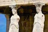 Caryatid sculptures, Acropolis of Athens, Greece poster