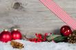 weihnachtliche deko mit Freiflaeche