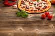 Delicious italian pizza - 58630942