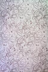 Vintage pink damask seamless floral pattern background