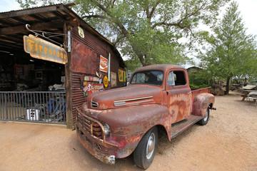 vieille voiture à Hackberry, Route 66