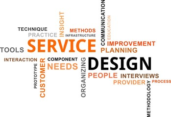 word cloud - service design