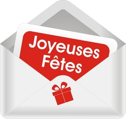 enveloppe joyeuses fêtes