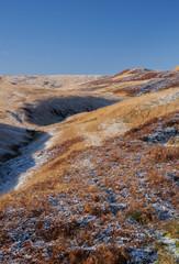 frosty moorland scenery in yorkshire