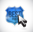 best price shield illustration design