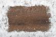 canvas print picture - Hintergrund Schnee und Holz
