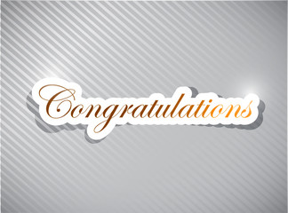 congratulations card illustration design