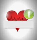 lifeline heart illustration design poster