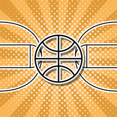 vector basketball symbol