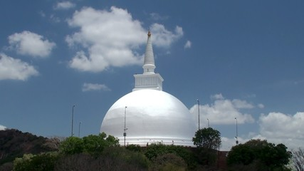 Ancient Maha Stupa on the Mihintale hill. Sri Lanka.