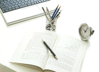 computer and book