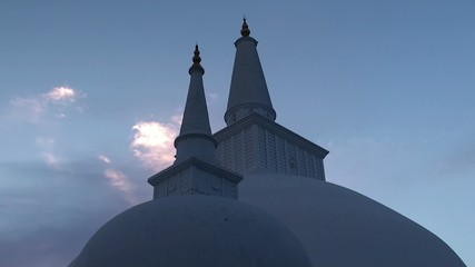 The Ruwanweli Saya Great Stupa in Anuradhapura.