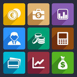 Money flat icon set 15