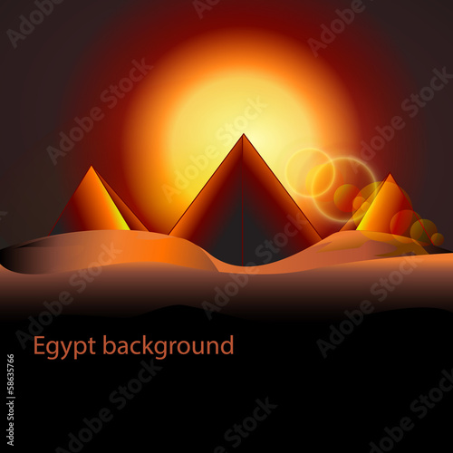 pyramid with rising sun