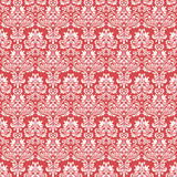 Red vintage seamless pattern for gift wrapping