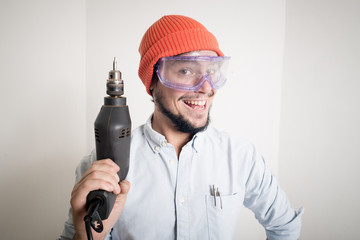 young man bricolage working
