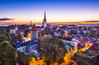 Tallinn, Estonia Dawn from Toompea Hill