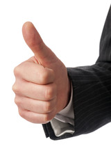 Hand with thumbs-up