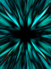 Abstract shapes and black hole