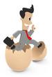 Geschäftsmann aus dem Ei