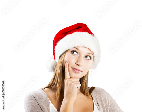 Beautiful christmas woman