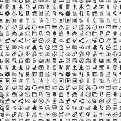 seamless doodle network pattern © notkoo2008
