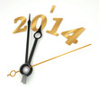 new year 2014 gold clock