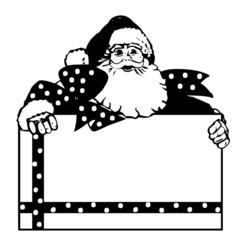 Weihnachten Weihnachtsmann Silhouette Vektor