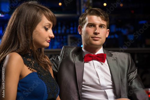 portrait of a man in a nightclub