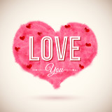 Fluffy heart icon for Your romantic design. Vector illustration.