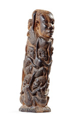 African Wooden Figurine at Three-Quarter
