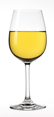 Verre de vin blanc détouré