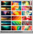 Colorful geometrical background set