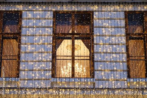 Weihnachtsbeleuchtung Fassade