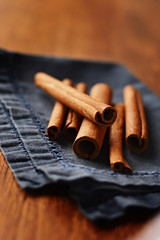 Spicy fresh cinnamon sticks