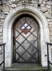 Drewniane stare drzwi