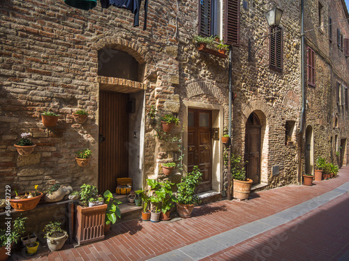 medieval village street in Tuscany