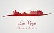 Las Vegas skyline in red
